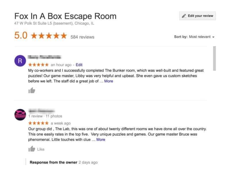 edit google reviews