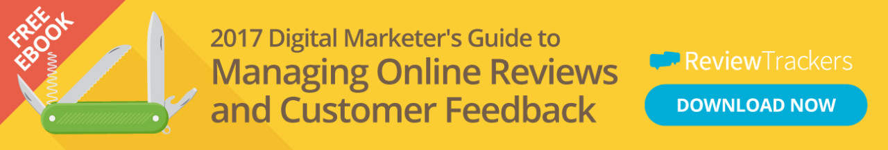 managing online reviews CTA