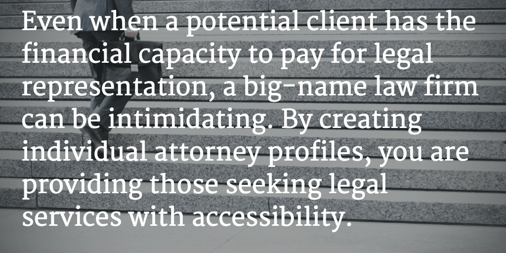 How Large Legal Practices Benefit from Individual Attorney Profiles in Review Sites