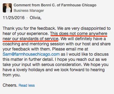 how to respond to negative restaurant reviews