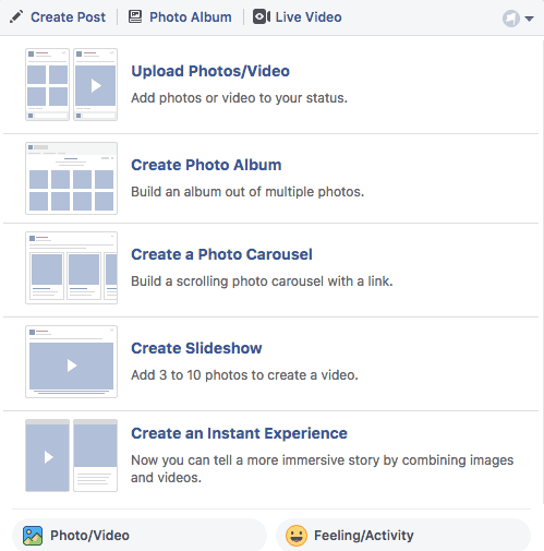 how to upload photos to facebook business page