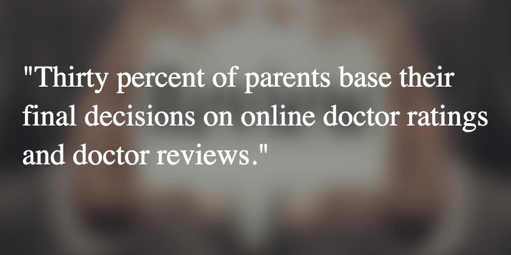 When Choosing Pediatricians, Parents Check Online Doctor Reviews to Guide Their Decisions