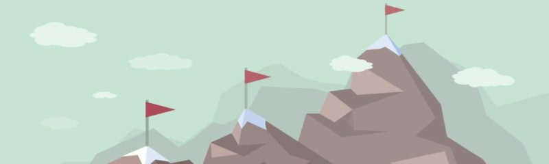 an image of a mountain with flags symbolizing the competitive landscape