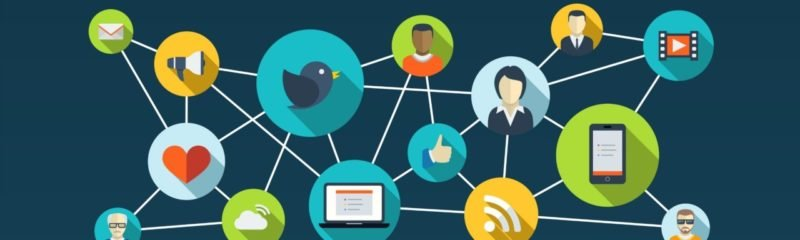 a group iof icons showing customer retention through social media