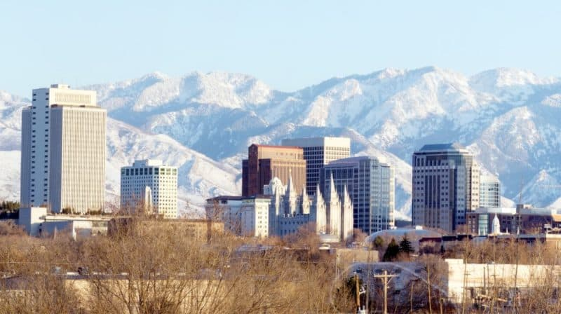 a skyline of salt lake city utah to introduce some of the top rated restaurants in salt lake city
