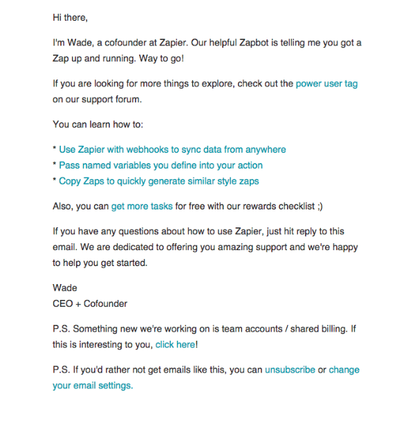 drip email campaign examples