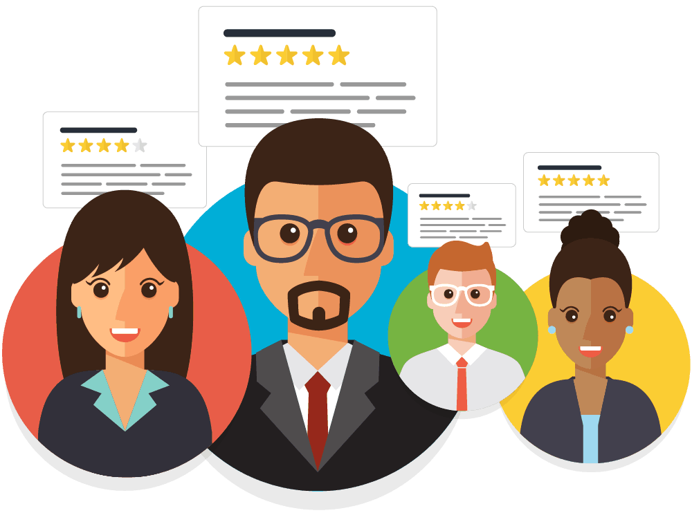 Request reviews from your most loyal customers