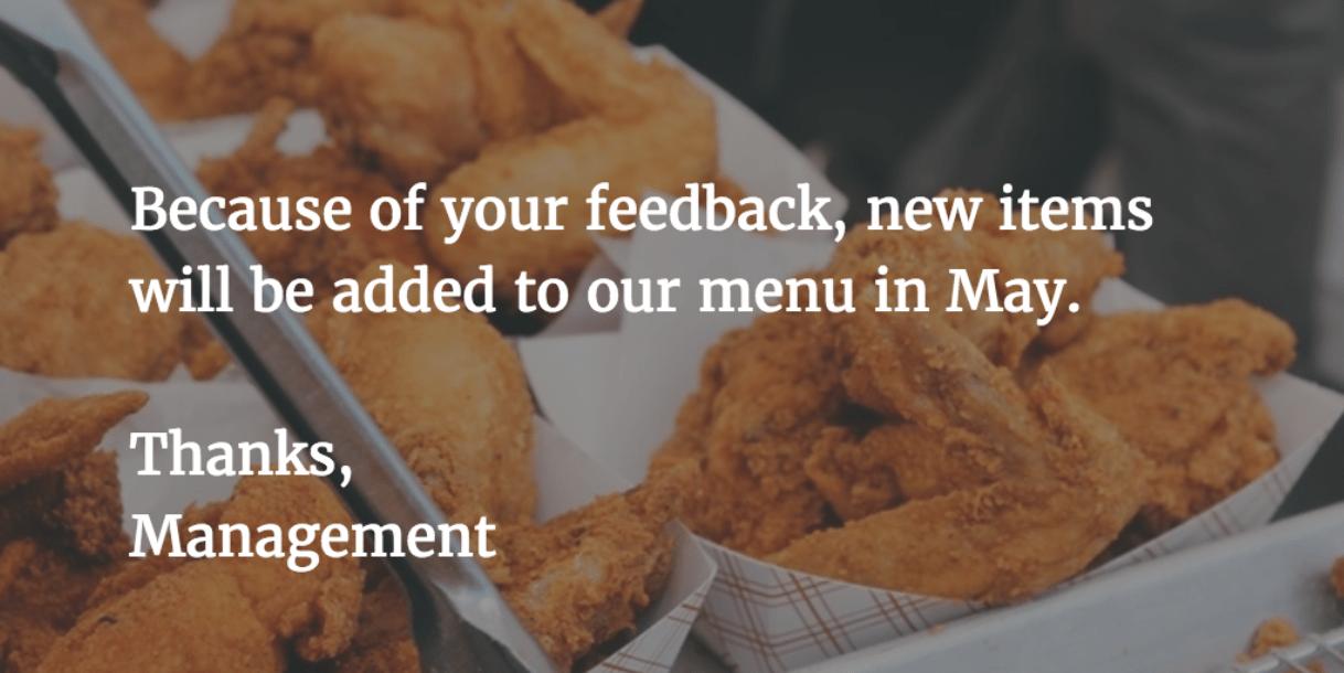 feedback-new-menu-items