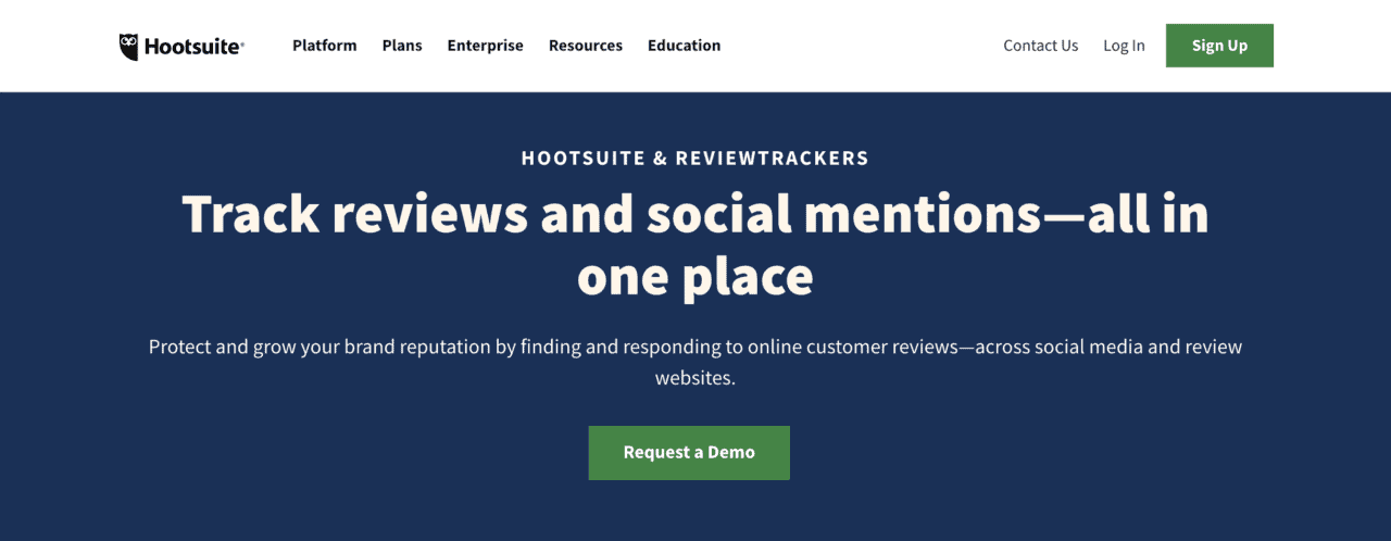 hootsuite reviewtrackers app