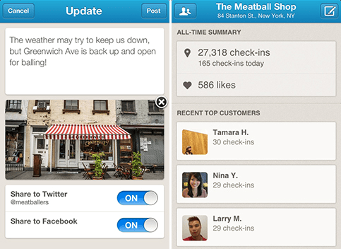 Open for Business: The New Foursquare App for Biz Owners