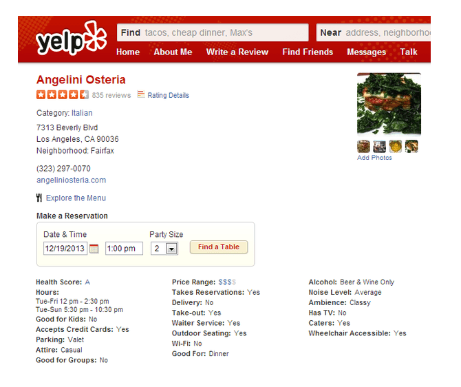 Is Your Restaurant Clean? Review Site Yelp Adds Health Inspection Scores for Eateries in LA