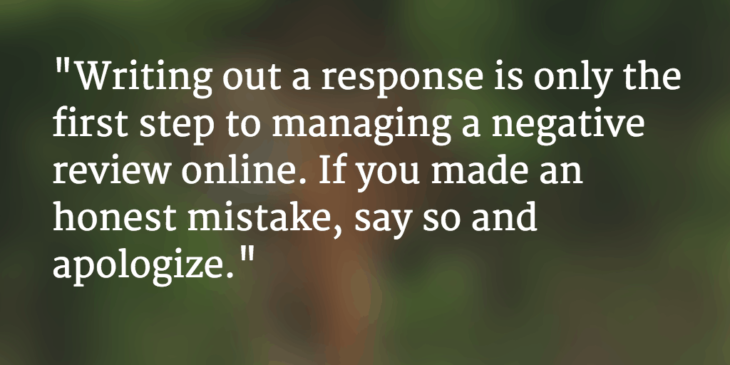 Managing Bad Reviews: What Else You Can Do After Writing a Response