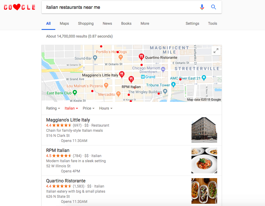Rank For Local Searches