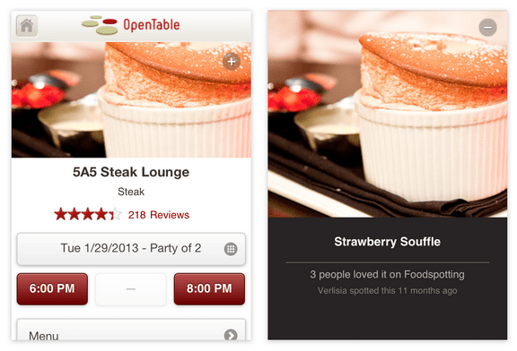 Restaurant Reviews Aggregator and Reservations Platform OpenTable Acquires Foodspotting, Gets Sexier