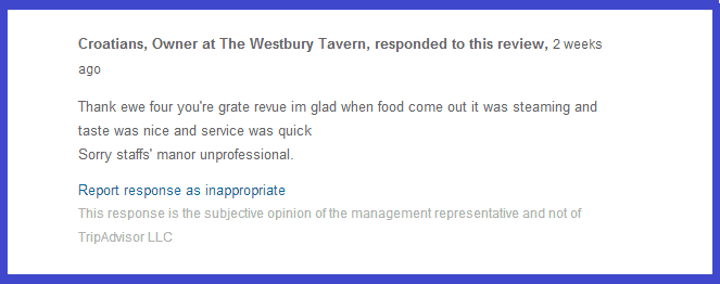 This Restaurant Owner's Response to a TripAdvisor Review Humiliates Her Customer