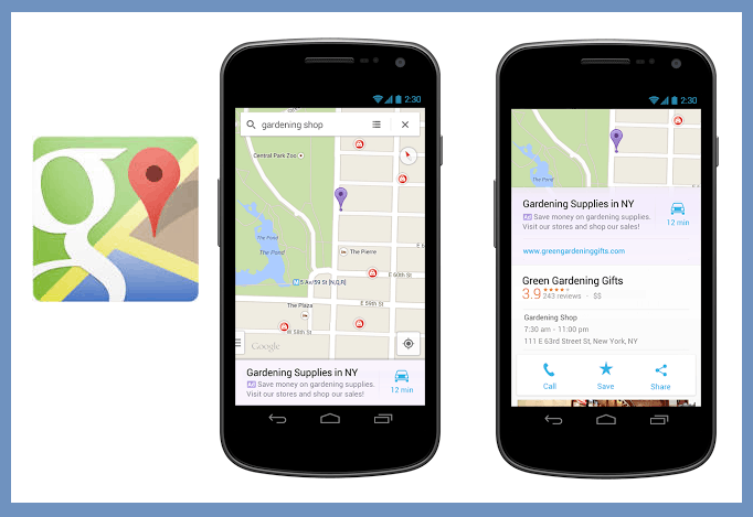 Relevant Local Ads Now Appear on Google Maps