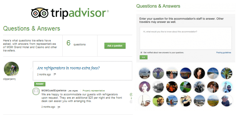 tripadvisor questions and answers