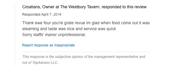 How to Respond to TripAdvisor Reviews (With Review Response